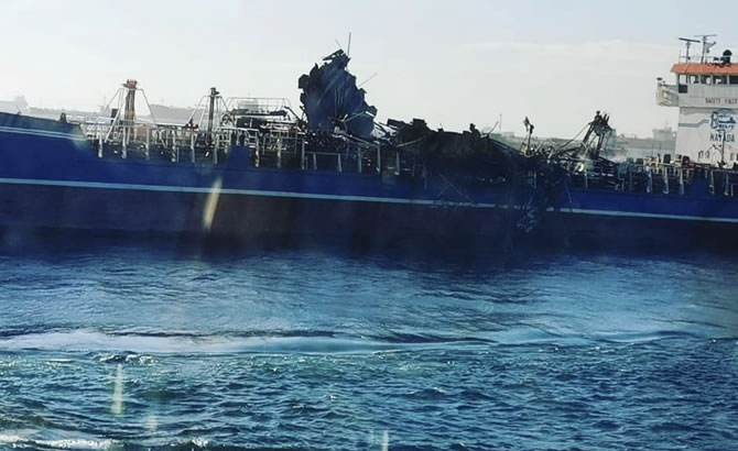 Russian Tanker Damaged by Deadly Gas Explosion Released gallery image 5
