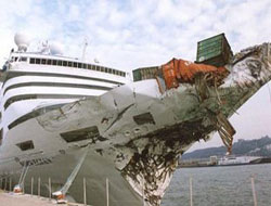Cruise ship collision in Greece