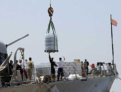 USS McFaul brings aid to Batumi