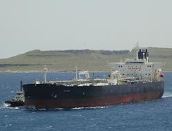 Tanker was anchored Harcourt