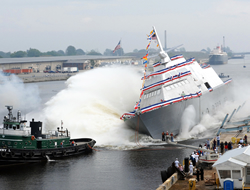 Ship return from turbulent water