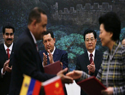 Chavez in China for oil deal