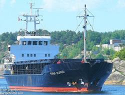 Drunk captain in a Latvian ship