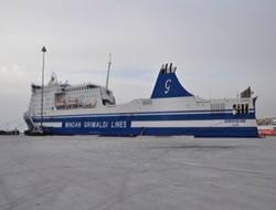 Italian flagged ferry shipwrecked
