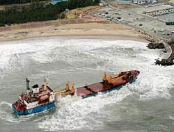 17 rescued after ship grounds