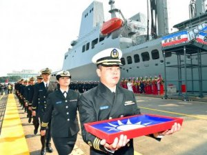 Navy debuts logistical support ship 'Panshih'