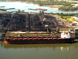 Coal shipping by bulk carrier