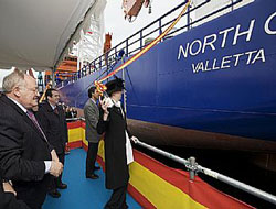 Support vessel christened