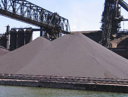 10.5% decrease in iron ore export
