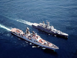 Russian combat vessel protection