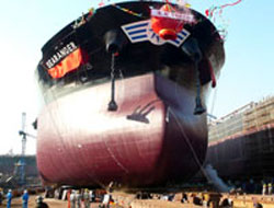 243m long ship delivery in March