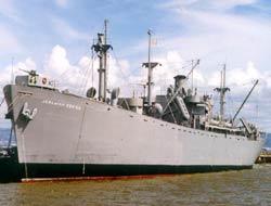 Liberty class cargo ship arrives
