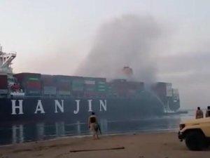 Hanjin Boxship Ablaze near Suez Canal