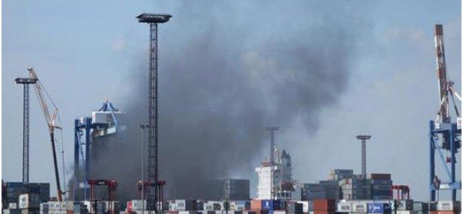 Maersk Karachi on fire