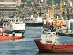 Aberdeen Harbour shipping traffic