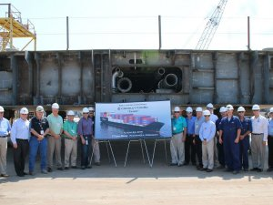 Keel Laid for Second LNG-Powered ConRo