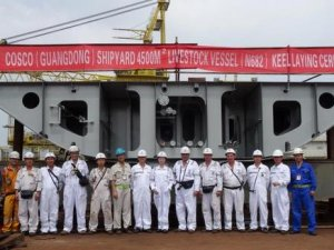 COSCO Guangdong Lays Keel for Vroon's Final Livestock Carrier