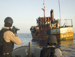 Navy seizes pirate mother ship