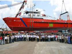 Strategic launches support vessel