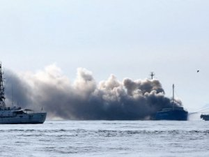 General cargo ship Soya Maru caught fire off Japan