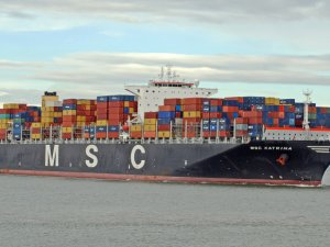 Container Catches Fire on MSC Ship off Germany