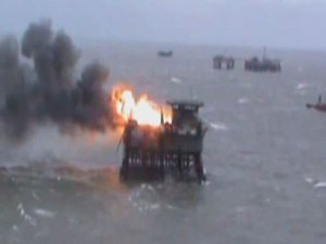 Azerbaijan says 29 missing after oil platform fire feared dead