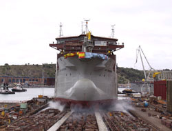 Hopper dredger is launched