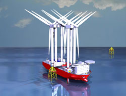 Vessels for offshore wind farms