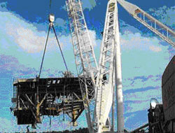 New crane disposes of rigs
