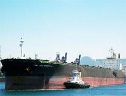 Cargo vessel leaked oil