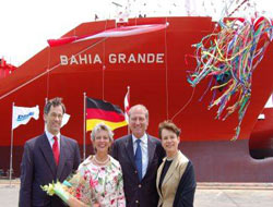 Container christened at Daewoo