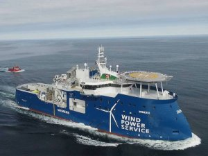 Ship Photos of the Day – Ulstein Delivers First X-Stern Wind Farm Service Vessel