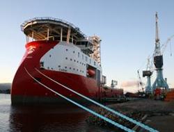 Construction vessel delivered
