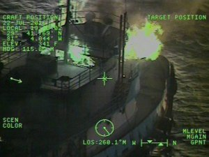 Six Rescued After Fire Damages American Tug Off Florida