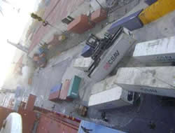 Port in Haiti is damaged
