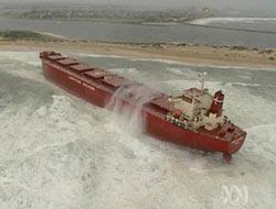 Pasha Bulker go aground