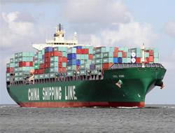 China Shipping volumes rise 18%
