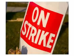 Hanjin Heavy workers go on strike