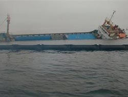 Turkish ship sinks in the Marmara