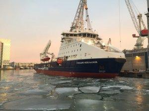 SCF's Ice-Breaking Platform Supply Vessel Named in Finland