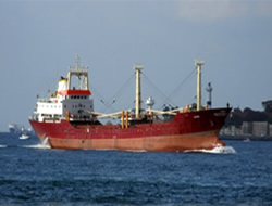Freighter ran aground in Istanbul