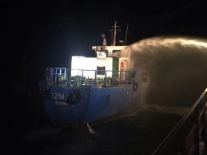 Fire aboard Turkish Tanker, Crew Evacuated