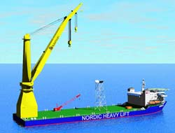 Record breaking crane vessel