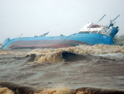 Eritrean cargo ship sinks