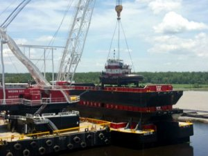 Stack them: Special delivery for Weeks Marine's new barges