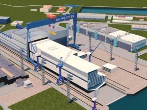 MV WERFTEN Constructing New Shipbuilding Hall