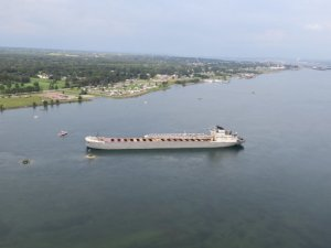 American Bulk Carrier Aground on St. Marys River