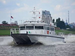 USACE takes delivery of foil assisted survey vessel