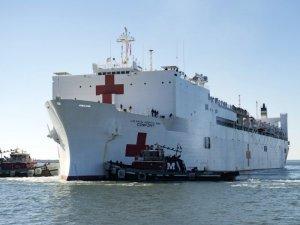Navy hospital ship returns from Puerto Rico