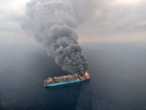 Fire-Damaged Maersk Honam Headed for Jebel Ali
